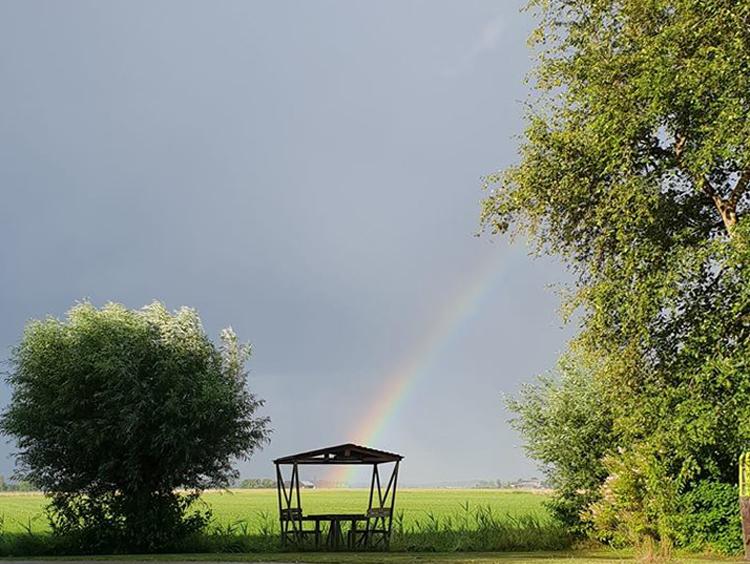 De Horizon Molenrij regenboog